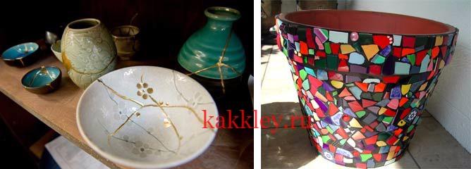 Склеить разбитую керамику