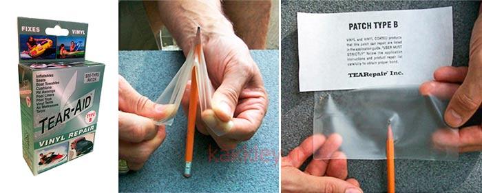 Заплатка с клеем для ПВХ изделий