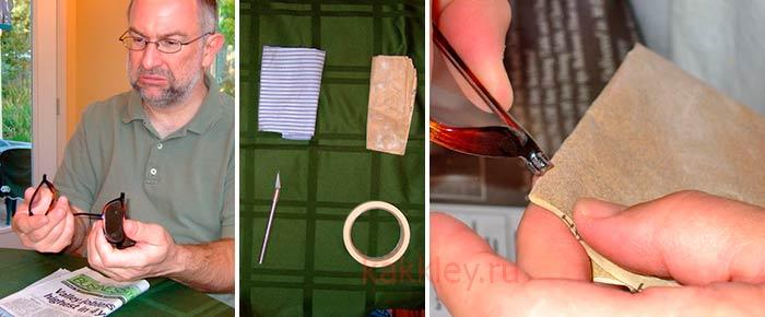Инструкция как склеить очки
