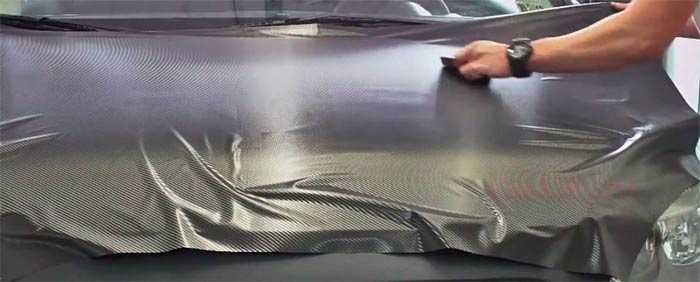 Как клеить карбоновую пленку на бампер