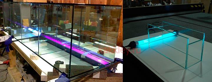 Как применять УФ клей для склейки стекла
