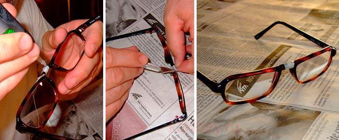 Можно ли починить сломанные в переносье очки