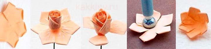 Розы из синтетической замши