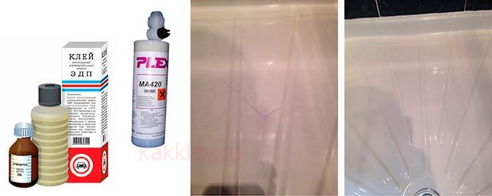 Какой клей использовать для ремонта акриловой ванны