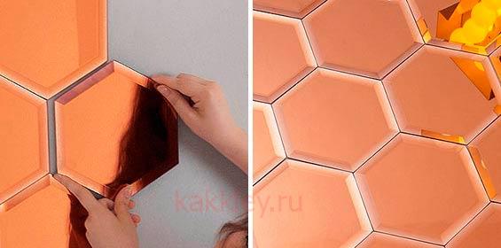 Как клеить зеркальную плитку на стену