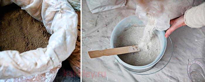 Как развести цемент с ПВА