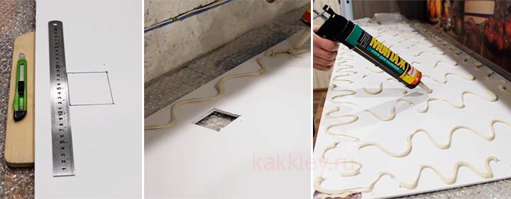 Как приклеить пластиковые или мдф панели для кухонного фартука