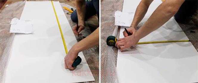 Подгон размеров пластиковой панели для кухонного фартука