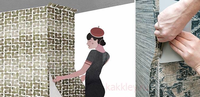 Как клеить углы и стыки обоев при неровностях стен
