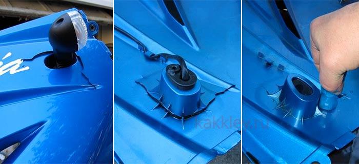 Как заклеить трещину в ABS пластике