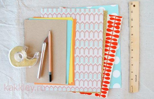Блокнот из цветной бумаги без клея