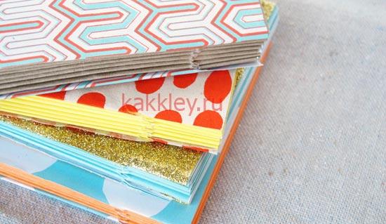 Блокнот из цветных листов А4 без клея