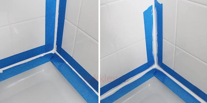 Заделка швов в ванной силиконовым герметиком
