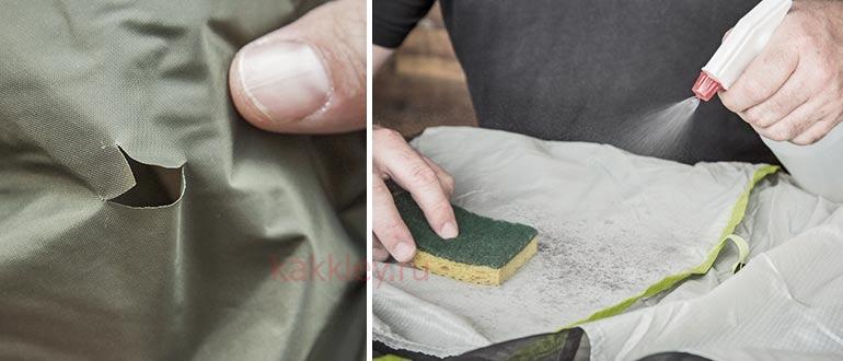 Инструкция как заклеить дырку в палатке
