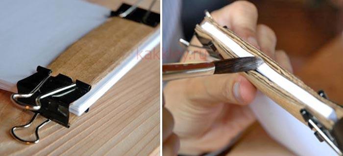 Инструкция как склеить блокнот