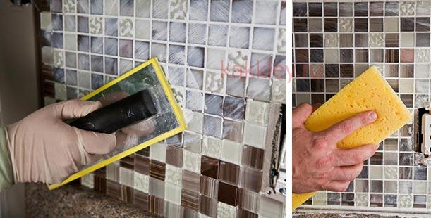 Укладка мозаичной плитки в ванной своими руками 3