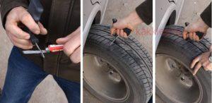 Как заклеить бескамерное колесо своими руками 50