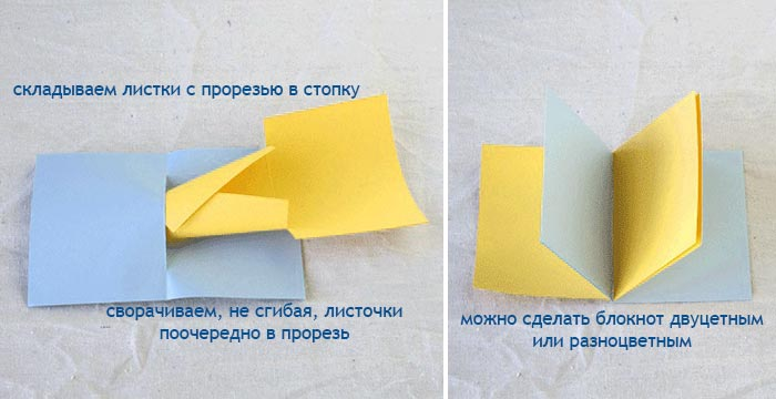 Фото-инструкция блокнот без клея