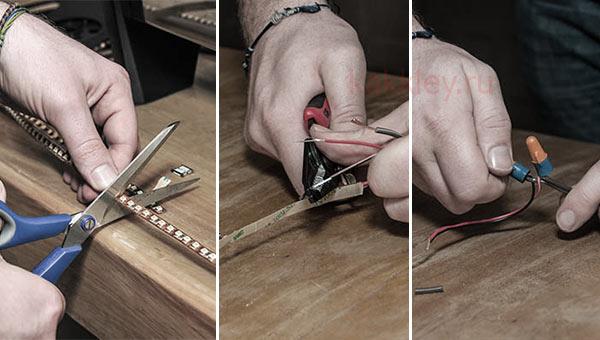 Как лучше приклеить LED-подсветку к столу