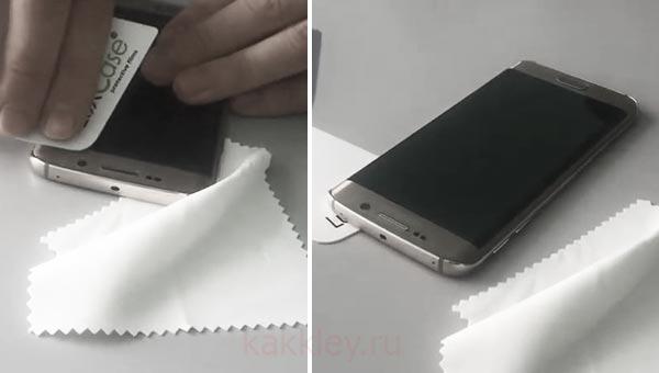 Как клеить пленку на изогнутый экран смартфона