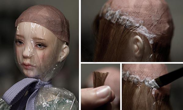 Как делать парик кукле