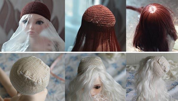 На какую основу можно клеить волосы для кукольного парика